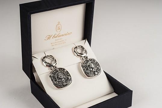 Orecchini in argento 925 brunito
