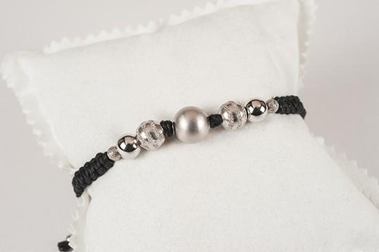 Bracciale donna con sfere in argento 925