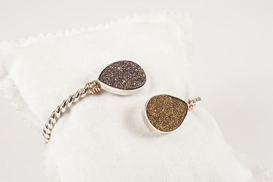 Bracciale Donna in argento con riporto oro